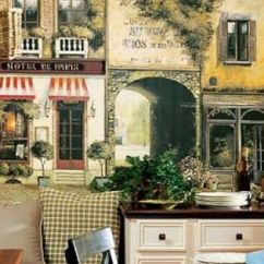 Italian Bistro Kitchen Decorating Ideas Wooden Toy French Country With Banquette Seating And La Rue ...