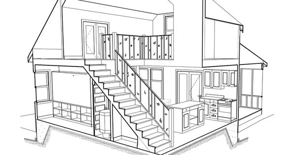 The first 3D document interior cut away that I did in