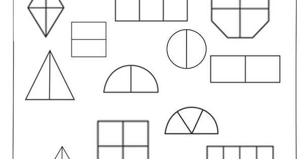 Basic coloring worksheet to identify fractions. Related