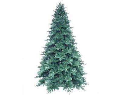 Martha Stewart Living 12 Ft. Pre-Lit LED Blue Noble Spruce