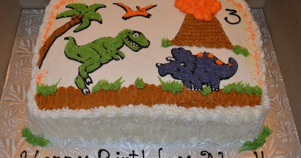 Dino Sheet Cakes In The Land Of The Dinosaurs Cake