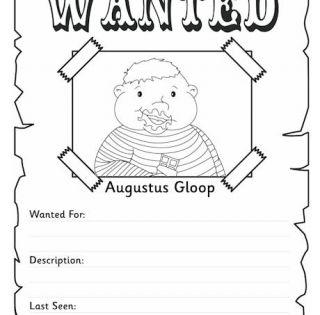 Great Website for Roald Dahl Augustus Gloop Wanted Poster