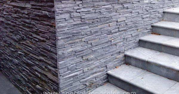 Exterior Black Slate Panel Stone Wall Cladding Tile