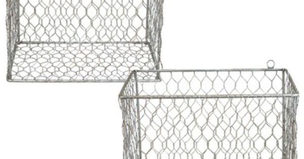 Shop industrial Wire Mesh Baskets designed as Storage