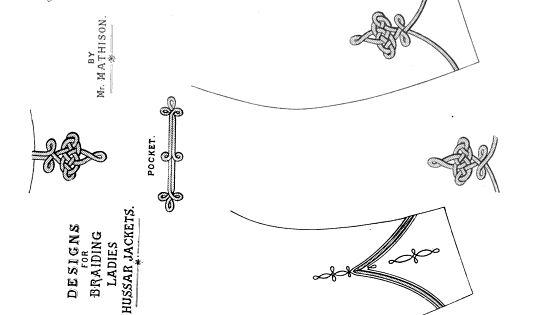 1885. Ladies' Cutting Made Easy. Jacket braid pattern