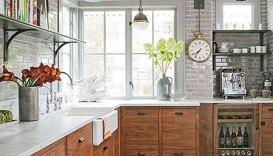 Industrial Meets Rustic In This Kitchen Farmhouse Kitchens