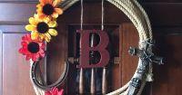 Lasso wreath DIY western decor | A Happy Home | Pinterest ...