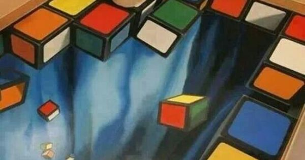 Amazing 3D Art Rubiks Cube Bathroom  fabulous floors
