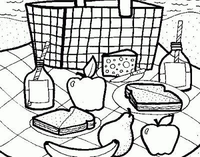 Healthy Eating Coloring Sheets Food Pages Nutrition Also