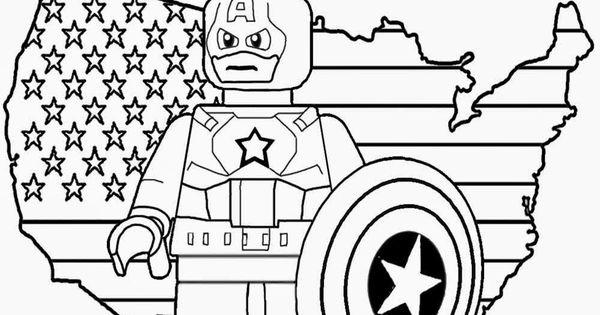 Free Prints Kids coloring Lego Marvel Super Heroes