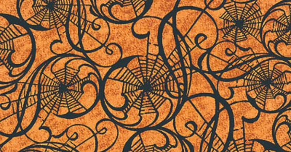 Fall Ceiling Wallpaper Download Hallowgraphix Spiderweb Spirals Pumpkin Holiday