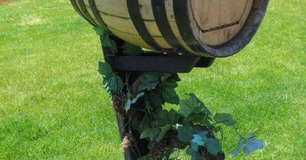 Wine barrel mailbox  Wine barrel ideas  Pinterest  Gardens To miss and Facebook