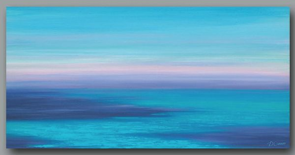 Beach decor Sunset art print Coastal wall art Ocean Large Abstract painting  Giclee canvas