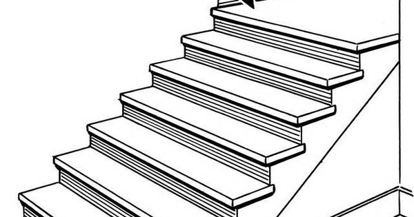 Stairs Coloring Page deck railing http://awoodrailing.com