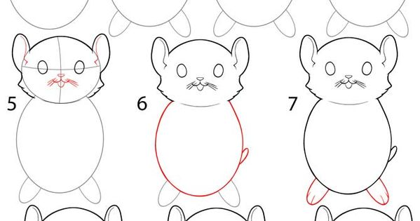 How to Draw a Hamster Step by Step Drawing Tutorial with
