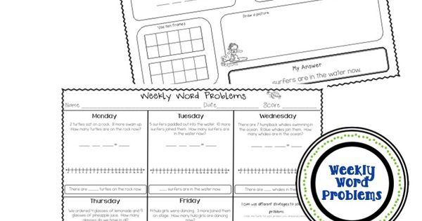1st Grade CCSS Word Problems (Add to: Result Unknown