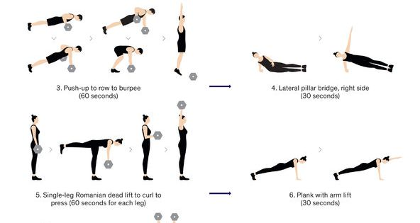full body circuit workout with dumbbells