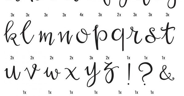 set de lettres Script Lightbox A little lovely company