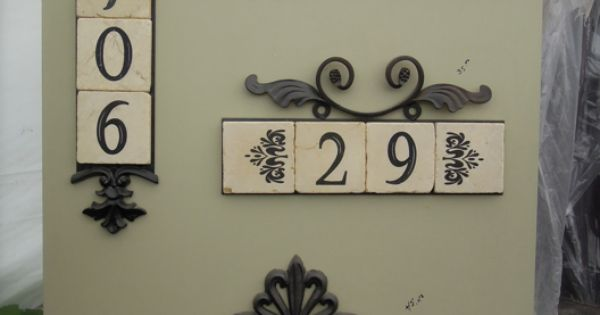 ~ Decorative Address Plaques with Tile