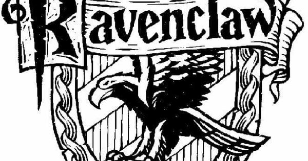 ravenclaw coloring pages  harry potter  pinterest