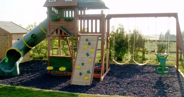 The Project Was To Build A Children's Play Area And Play House