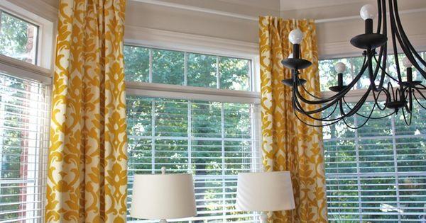 bay window curved curtain rod