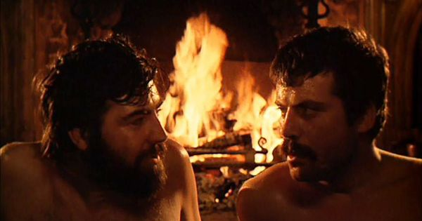 """Alan Bates And Oliver Reed In """"Women In Love"""" Directed By"""