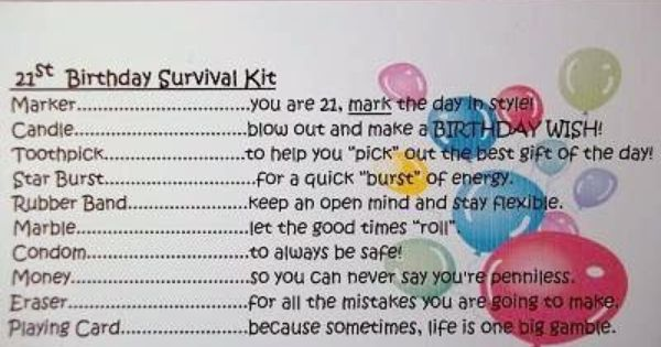 Details About PERSONALISED 21ST BIRTHDAY SURVIVAL KIT GIFT