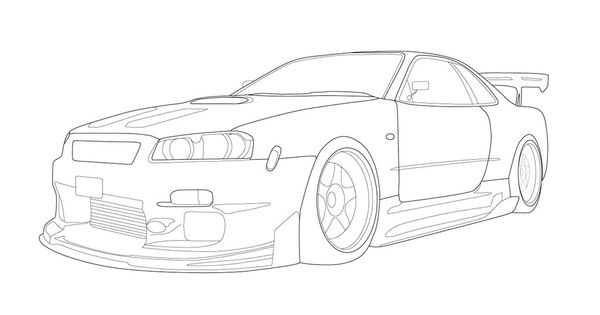 Drawing Of A Nissan Skyline Gtr Nissan Recomended Car