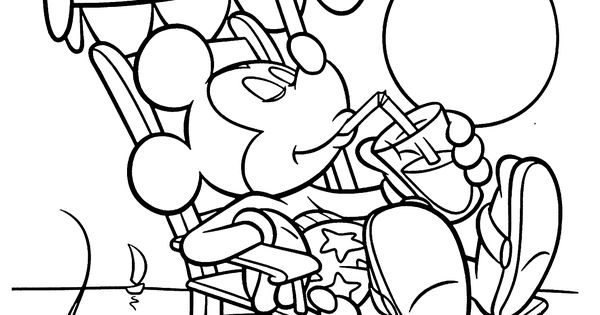 Mickey Mouse coloring pages for kids printable free