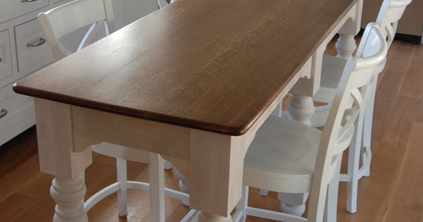 Narrow Counter Height Harvest Table Kitchen Table With