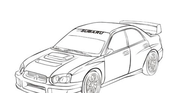 Subaru Wrx Sti Coloring Pages Sketch Coloring Page