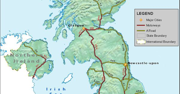 UK road network map is a great companion on roads of
