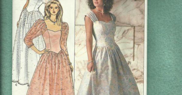 Vintage 1987 Butterick 4829 Cinderella Wedding Dress With
