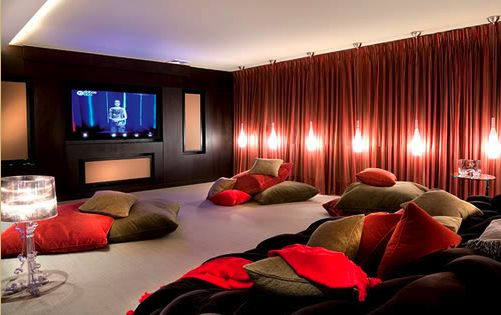 20 Stunning Home Theater Rooms That Inspire You  Large
