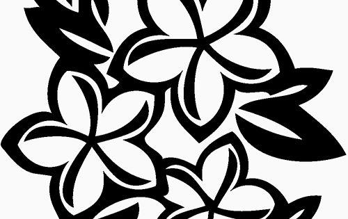 Plumeria Flower Die Cut Vinyl Decal PV1355 Silhouettes