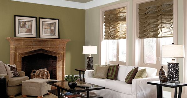 green and brown living room paint ideas purple grey curtains this is the project i created on behr.com. used these ...