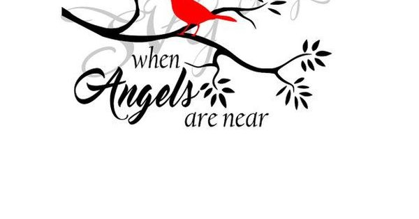 Download Cardinals appear when Angels are near SVG   Christmas ...