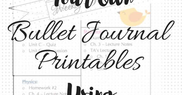 How to Create Your Own Bullet Journal Printables Using