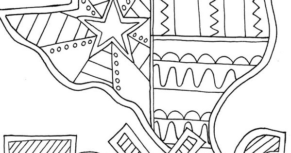 texas coloring pagedoodle art alley  usa coloring