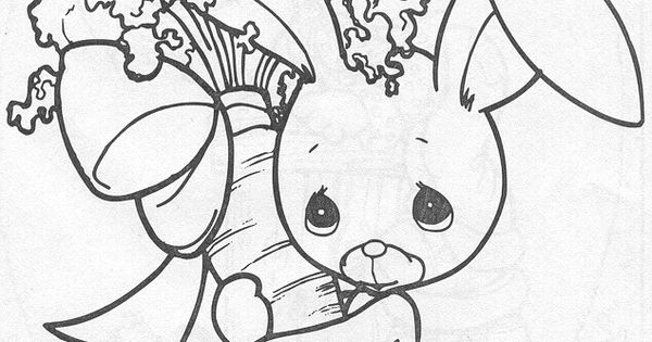 Precious Moments Coloring Pages. Precious Moments Animals