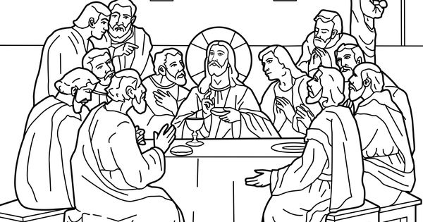 The Last Supper for Holy Thursday Lent Coloring Page
