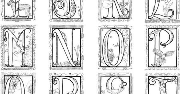 Medieval Alphabet Coloring Pages Coloring Pages
