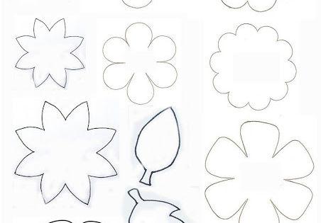Cartamodelli per fiori e foglie (Nella valigia della Buru