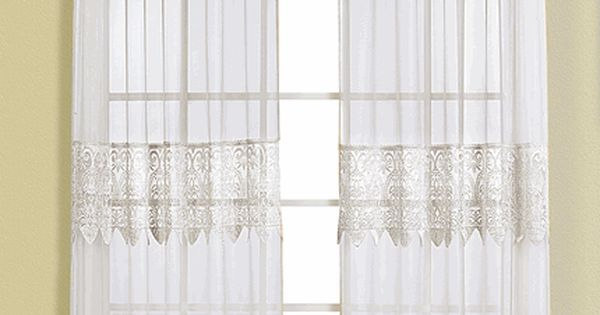 Valerie Curtains Are A Sheer Amp Macram Combination Style Panels Are Embellished With A