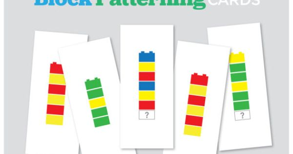 Block Patterning Cards 12 Patterns Duplo Lego By
