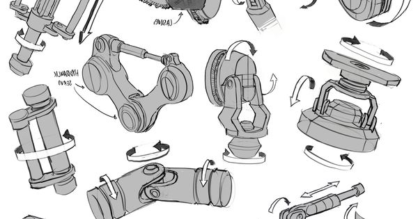 infinitedoodles: Mech Joints Study This is a great example