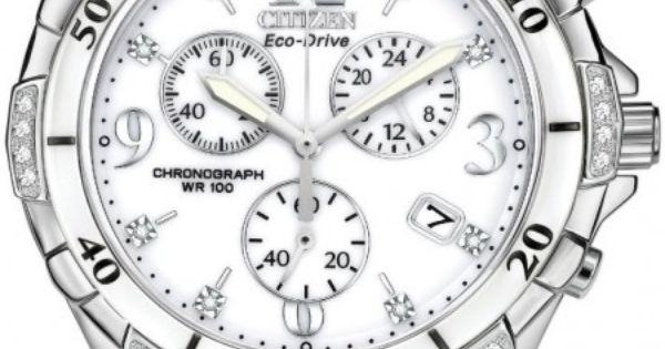 Citizen Women's Eco-Drive Diamond White Ceramic