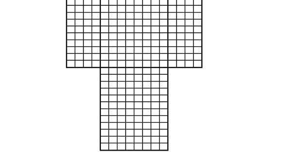 Printable template for Minecraft skin creation. Use