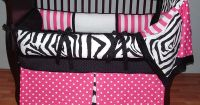 Sweet Candy Zebra Bedding | Baby Girl Bedding Sets ...